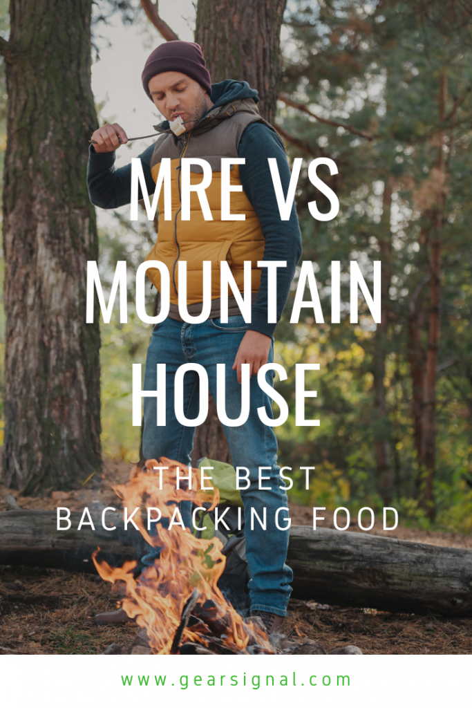 backpacking food comparison between meal ready to eat (MRE) and mountain house dehydrated food packs