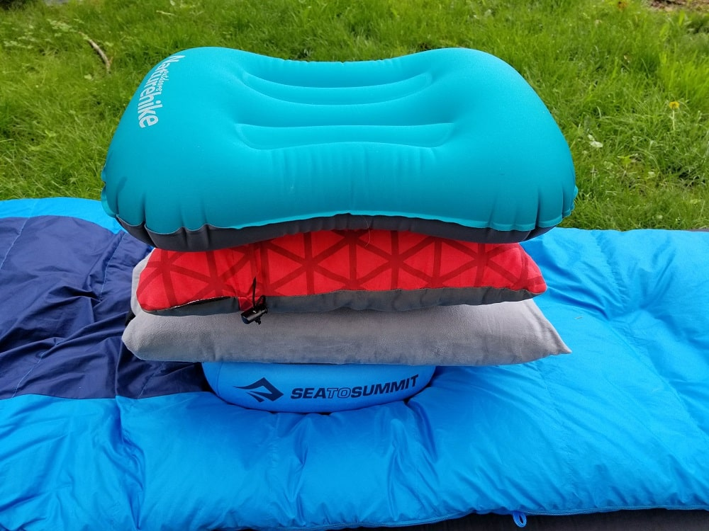 naturehike thermarest sea to summit and nemo fillo side by side comparison backpacking pillows