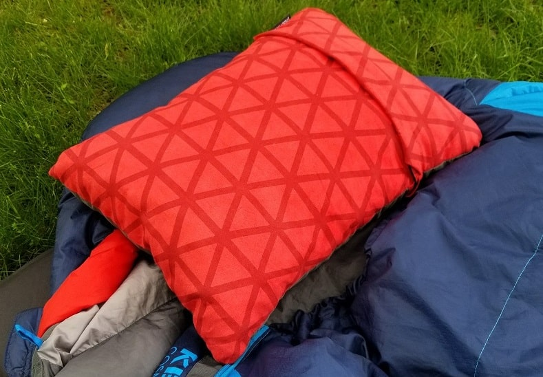 thermarest backpacking pillow up close