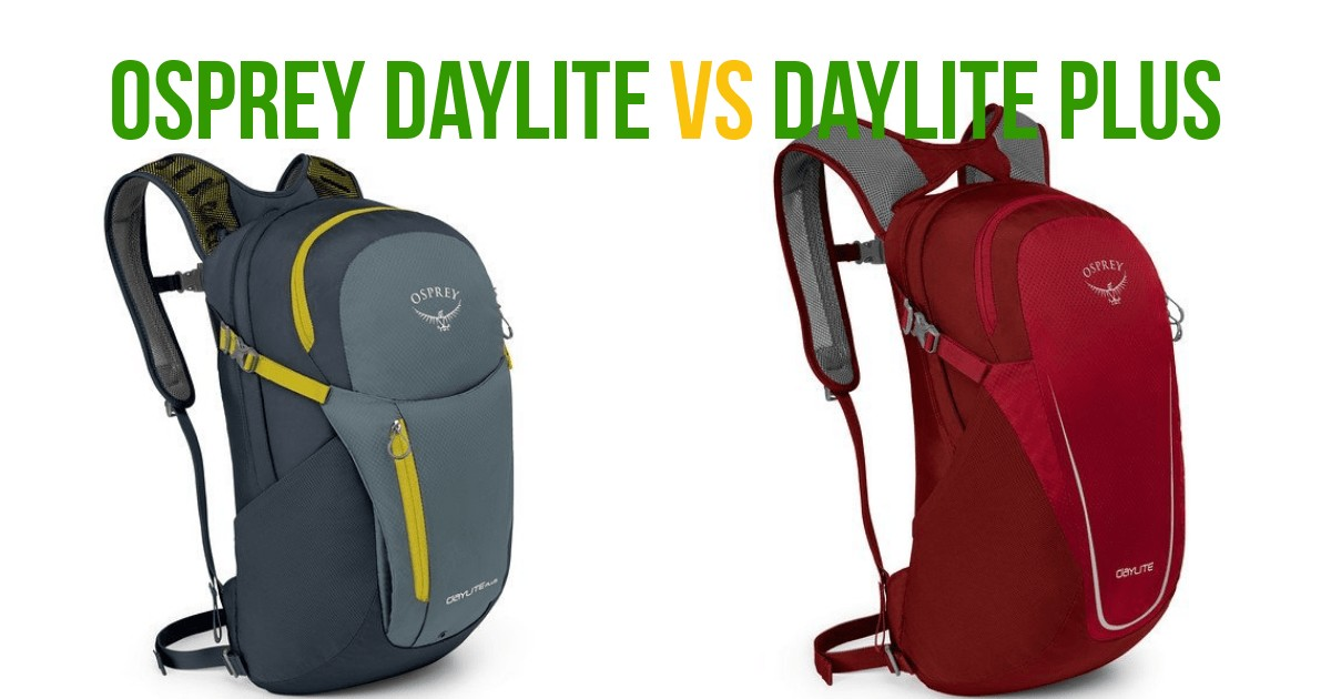 comparison between these two osprey packs - the daylite plus is the clear winner