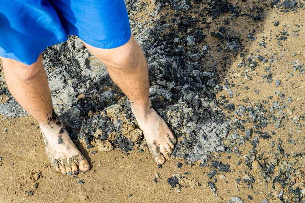 Barefoot in the Wadden Sea